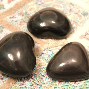 Heart Shaped Obsidian