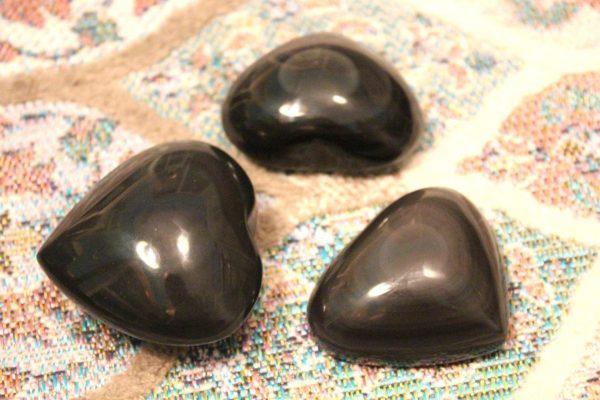 Heart Shaped Obsidian