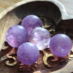 Amethyst Crystal Spheres